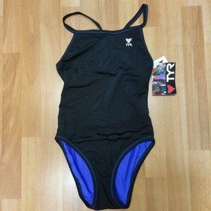 NWT TYR One Piece Swimsuit,  Revers.,  Sz 36/M/10
